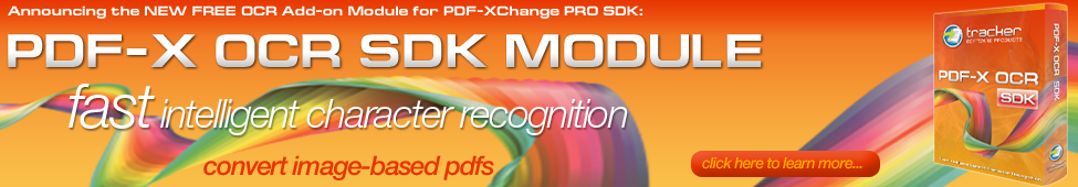 PDF-X OCR SDK Module announced ...